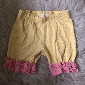 Toddler girl ruffle shorts size 4